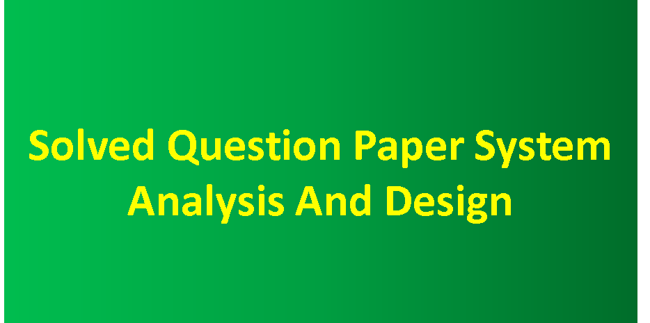Ignou Bca Solved Question Papers Pdf